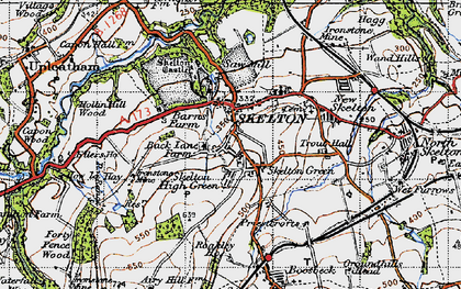 Old map of Skelton in 1947