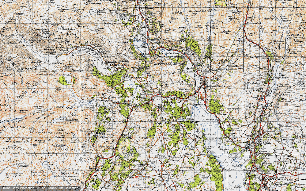 Old Map of Historic Map covering Ashley Green in 1947