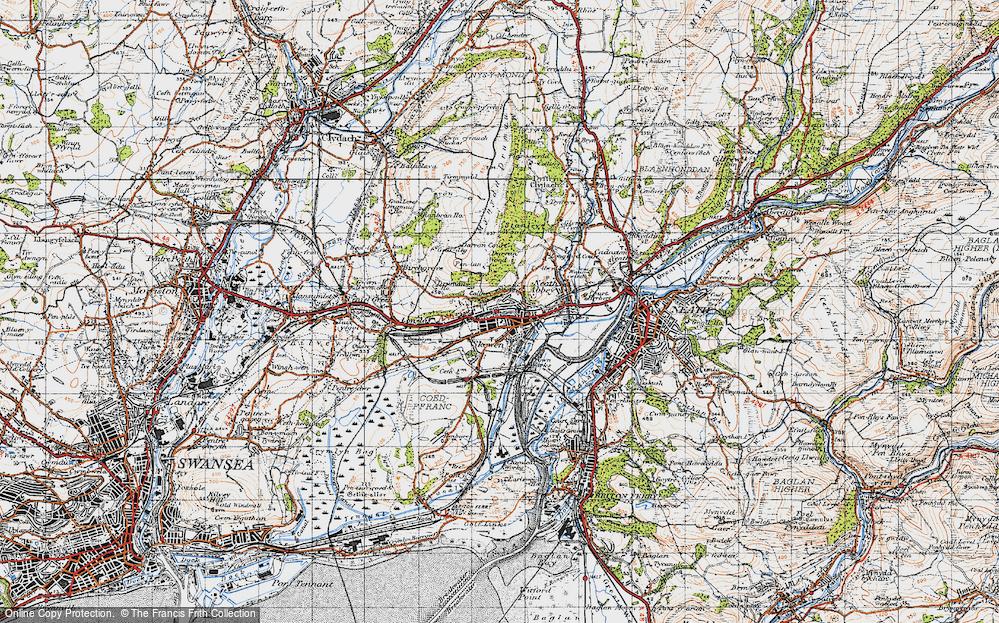 Old Map of Skewen, 1947 in 1947