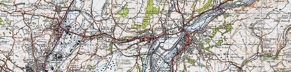 Old map of Skewen in 1947