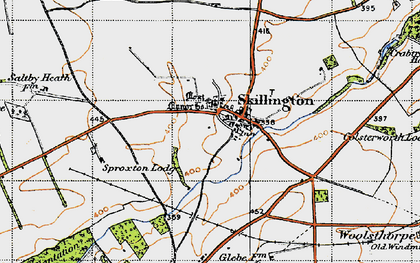 Old map of Skillington in 1946