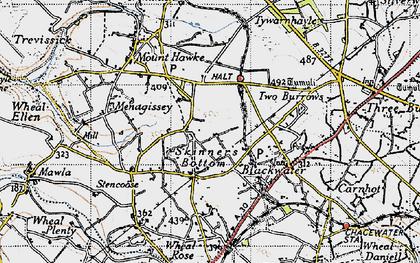 Old map of Skinner's Bottom in 1946