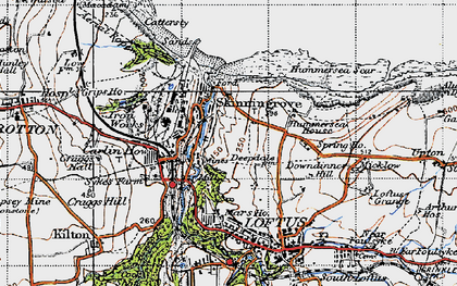 Old map of Skinningrove in 1947