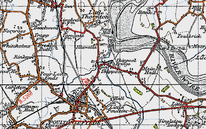 Old map of Wyre Way in 1947