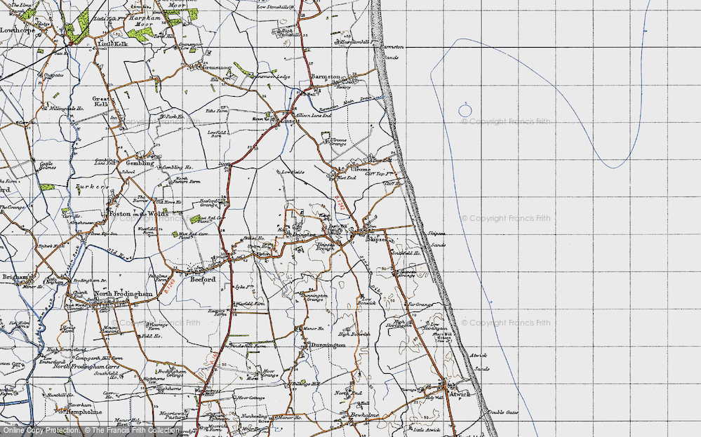 Old Map of Skipsea, 1947 in 1947
