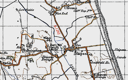 Old map of Skipsea in 1947