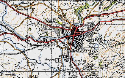 Old map of Skipton in 1947