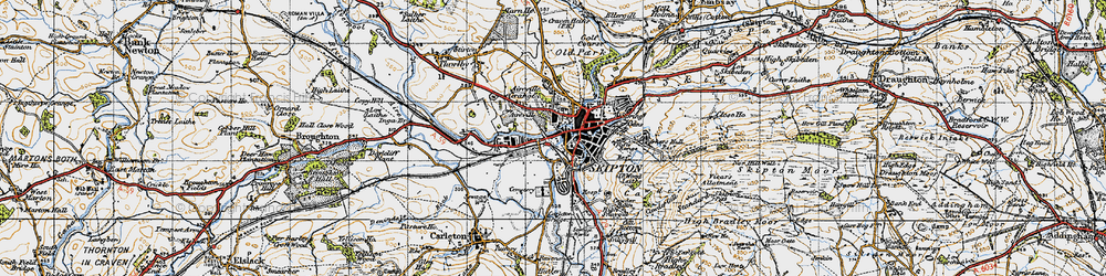 Old map of Aireville Park in 1947
