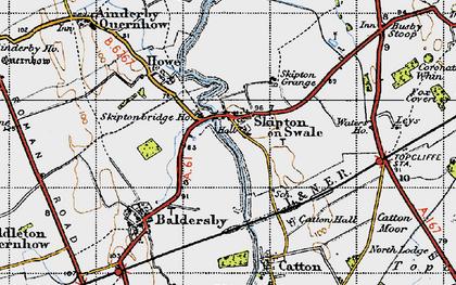 Map Of Skipton Skipton on Swale photos, maps, books, memories Map Of Skipton