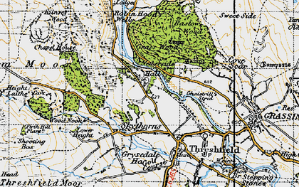 Old map of Wood Nook in 1947