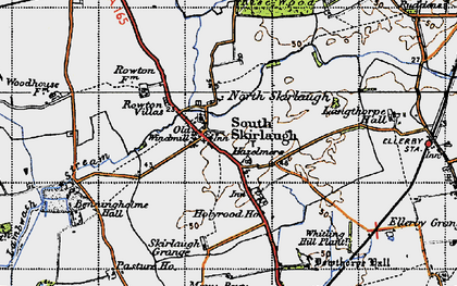 Old map of Skirlaugh in 1947