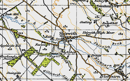 Old map of Whamthorn Plantn in 1947