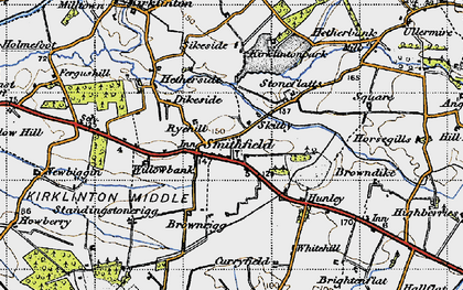 Old map of Willow Bank in 1947