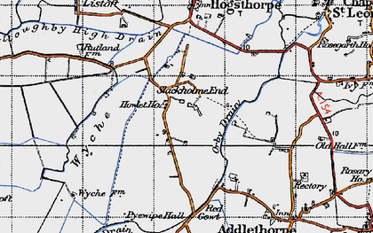 Old map of Wyche in 1946