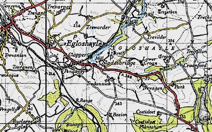 Old map of Sladesbridge in 1946