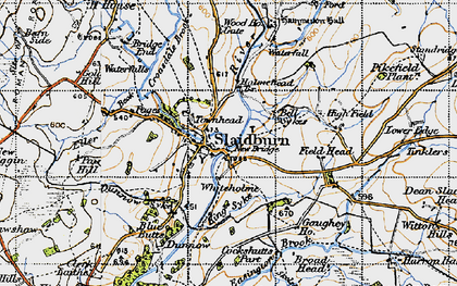 Old map of Slaidburn in 1947