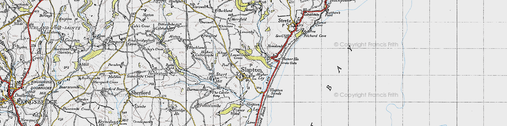 Old map of Slapton in 1946