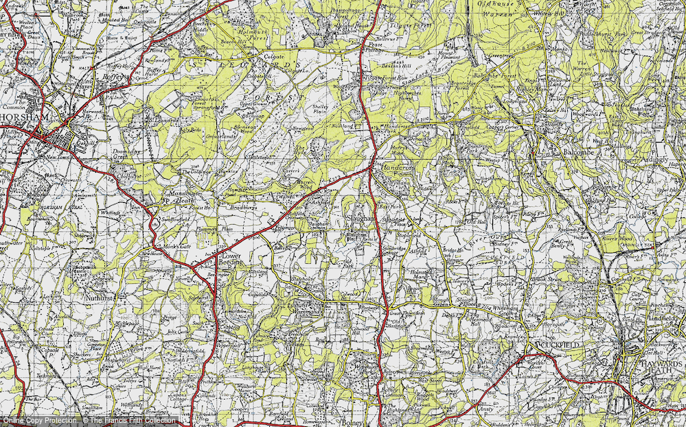 Old Map of Historic Map covering Ashfold in 1940