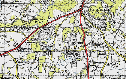 Old map of Slaugham in 1940