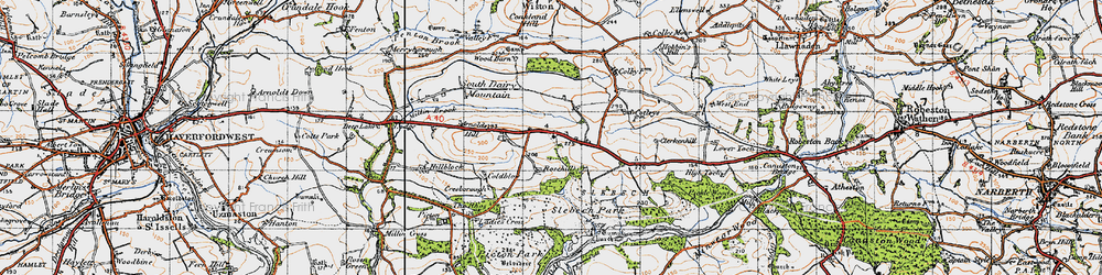 Old map of Wiston Wood in 1946