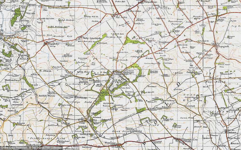 Old Map of Historic Map covering Wood Dale Plantn in 1947