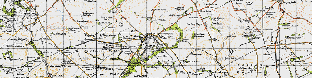 Old map of Wood Dale Plantn in 1947