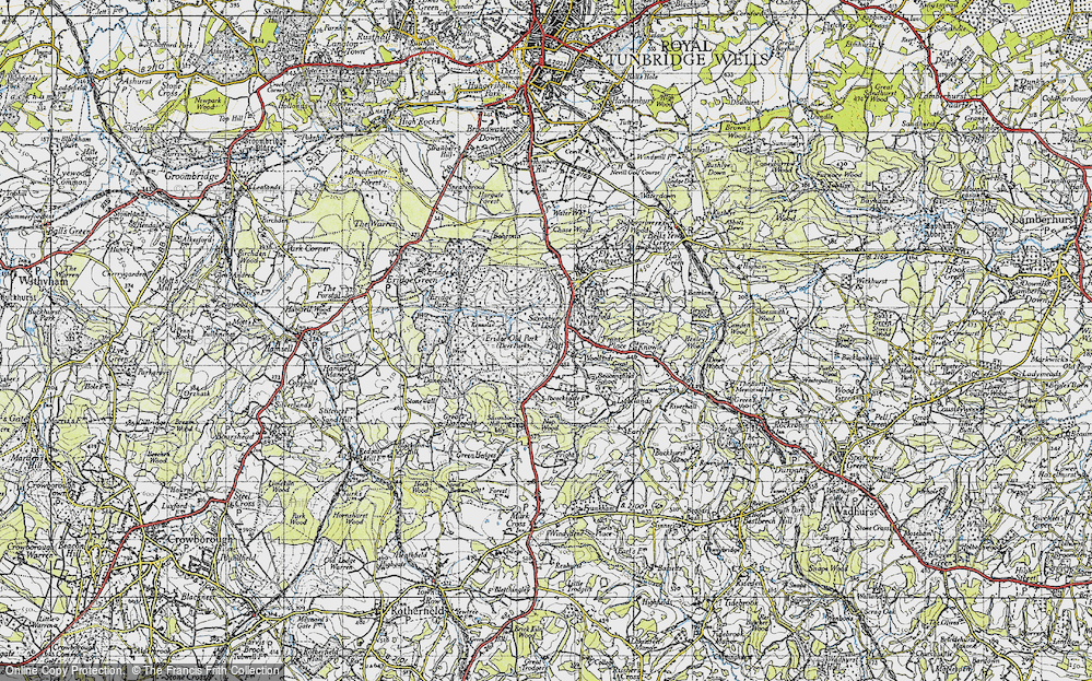Old Map of Historic Map covering Lightlands in 1946