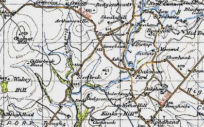 Old map of Arthur Seat in 1947