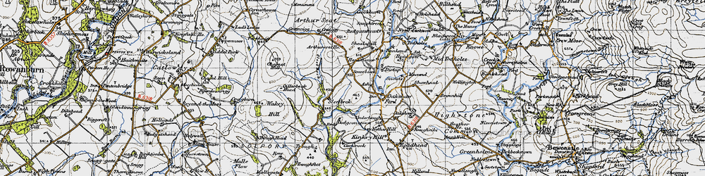 Old map of Wickerthwaite in 1947