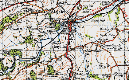 Old map of Sleights in 1947