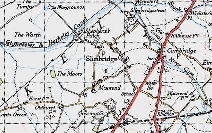 Old map of Slimbridge in 1946