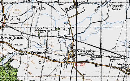 Old map of Slingsby in 1947