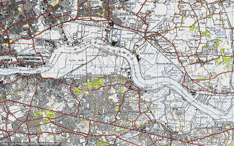 Old Map of Sloane Square, 1946 in 1946