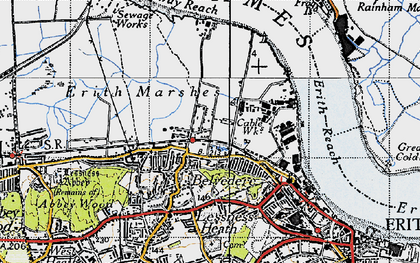 Old map of Sloane Square in 1946