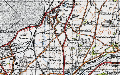 Old map of Slyne in 1947
