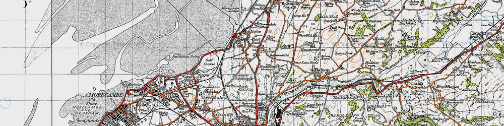 Old map of Ancliffe Hall in 1947