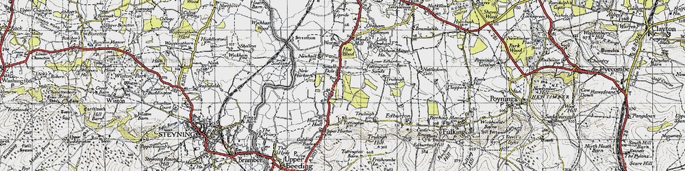 Old map of Woods Mill in 1940
