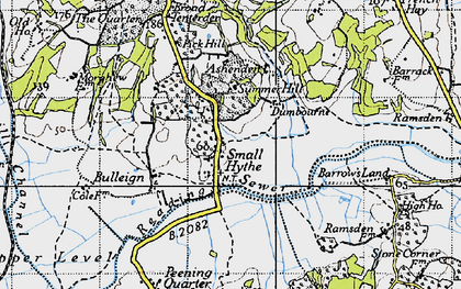 Old map of Small Hythe in 1940