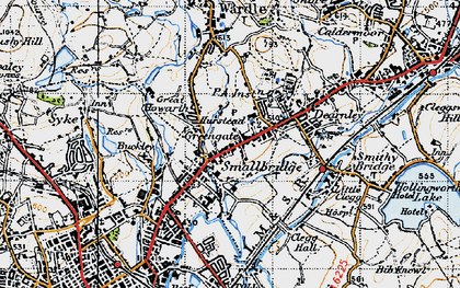 Old map of Smallbridge in 1947