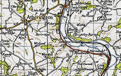 Old map of Wixland in 1946