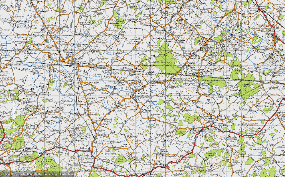 Old Map of Smarden, 1940 in 1940