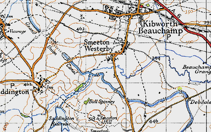 Old map of Smeeton Westerby in 1946