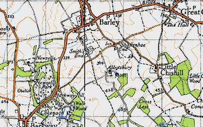 Old map of Smith's End in 1946
