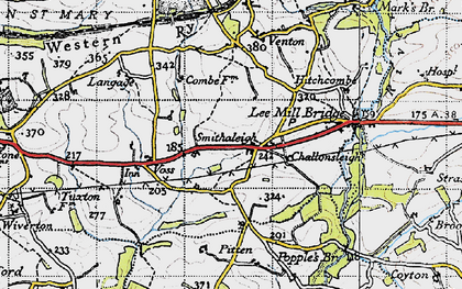 Old map of West Pitten in 1946