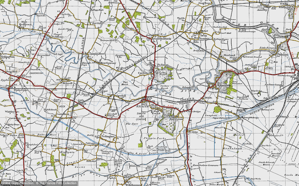 Old Map of Snaith, 1947 in 1947