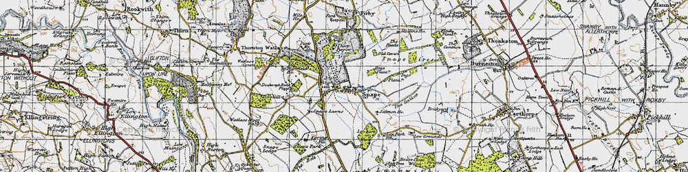 Old map of Snape in 1947