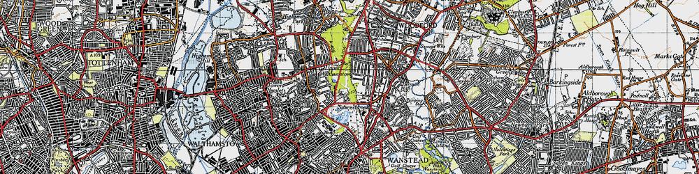 Old map of Snaresbrook in 1946
