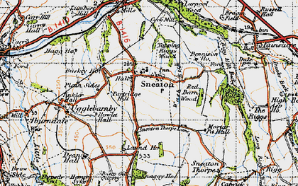 Old map of Laund Ho in 1947