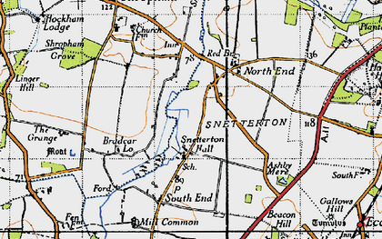 Old map of Linger Hill in 1946