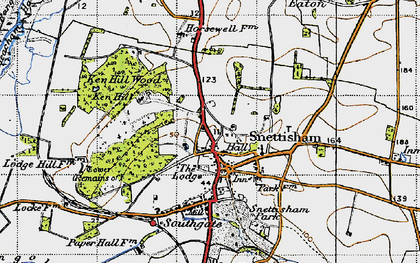 Old map of Snettisham in 1946